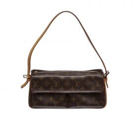 Louis Vuitton Monogram Canvas Leather Viva Cite MM Bag