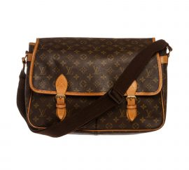 Louis Vuitton Monogram Canvas Leather Gibeciere GM Messenger Bag